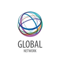 Logo global network vector