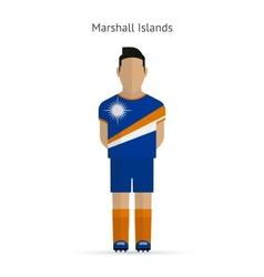 Marshall Islands football player Soccer uniform vector image
