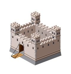 Medieval fortress vector