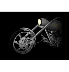 motorcycle closeup red vector image