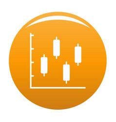 new diagram icon orange vector image