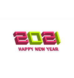 new year poster 2021 logo concept vector image