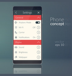 phone design concept vector image