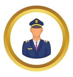 Pilot icon vector
