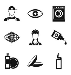 Pro icons set simple style vector