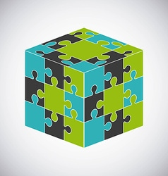 puzzle assembling design vector image