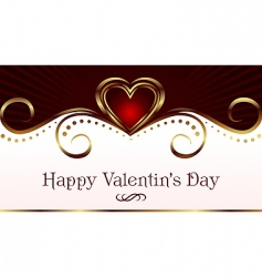 romantic card for valentines day vector image