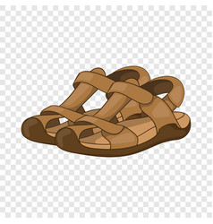 Sandals icon cartoon style vector