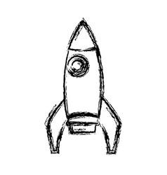 school rocket startup successful education icon vector image