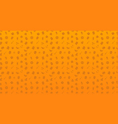 seamless pattern of halloween halloween icons vector image