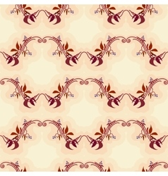 Seamless pattern with autumn wild grape in beige vector