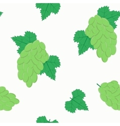 Seamless Pattern with Bunches of White Grapes on vector image