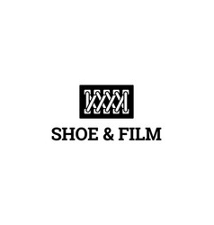 shoe and film logo concept vector image