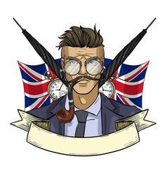 sketch british man vector image