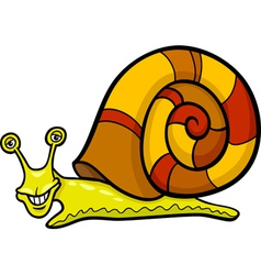 snail mollusk cartoon vector image