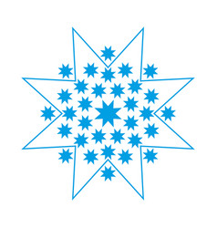 snowflake icon or logo christmas and winter theme vector image