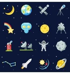 Space Symbol Innovation Technology Flat Design vector