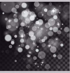 Special light effect of bokeh and sparkles vector