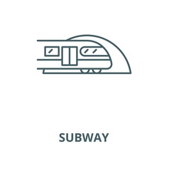 subway line icon linear concept outline vector image