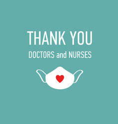 Thank you doctors and nurses hand drawn vector