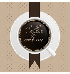 The concept of coffeehouse menu vector image