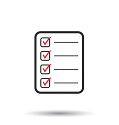 To do list icon checklist task list in flat style vector