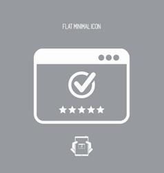 Top rating application - flat minimal icon vector