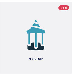 Two color souvenir icon from museum concept vector