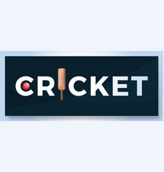 Typography word cricket logo sport logotype vector