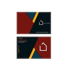 Visiting card design vector