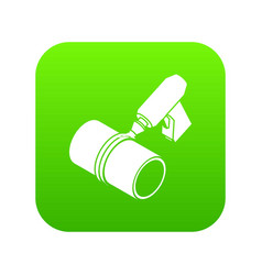 welding torch cutting icon green vector image