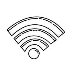 wifi icon doodle hand drawn or outline icon style vector image