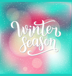 Winter season hand written inscription vector
