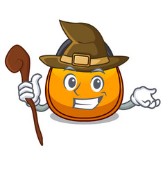 Witch hobo bag outline on image cartoon vector
