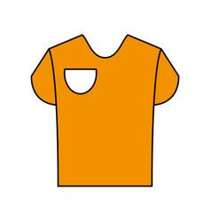 Yellow shirt design vector