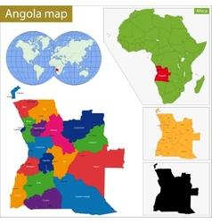 Angola map vector image