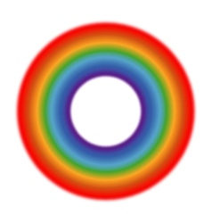 circle rainbow white background vector image
