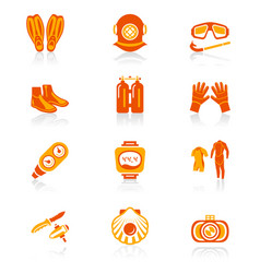 diving icons - juicy series vector image vector image