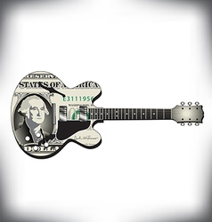 Dollar guitar vector image vector image