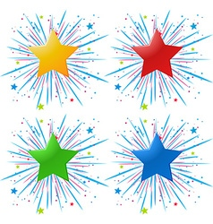 Icon design with different color stars vector image vector image