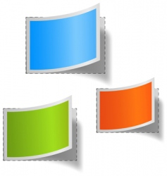 set of multicolored blank labs vector image vector image
