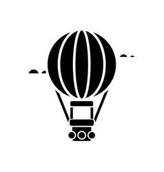 air balloon - aerostat icon vector image