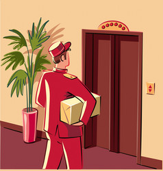 Bellman in red livery vector