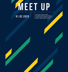 cool colorful background style meet up card vector image