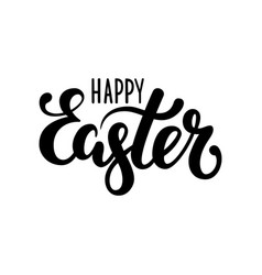 happy easter hand drawn calligraphy and brush pen vector image vector image