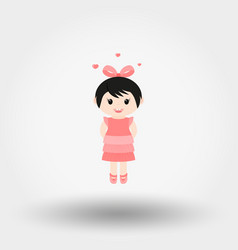 lovely girl valentine s day vector image