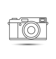 Retro vintage camera icon vector image