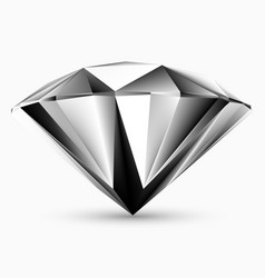 shiny white diamond vector image