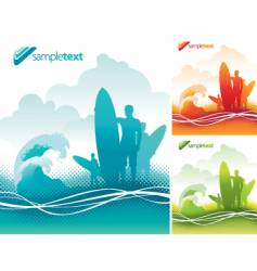 surfers team vector image vector image