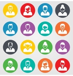 User sign icon Person symbol Human avatar Round vector image vector image